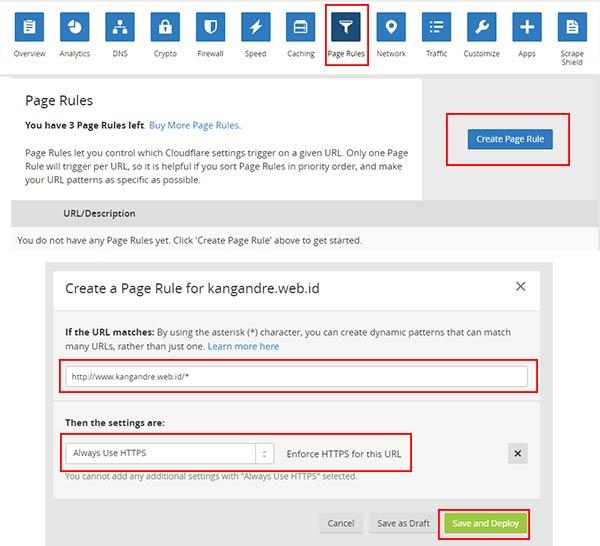 Agar http selalu berubah https di menu Page Rules
