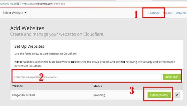 Cara Setting Akun CloudFlare